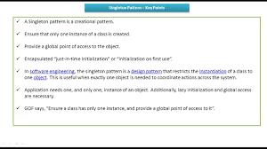 Singleton Pattern Cool Design