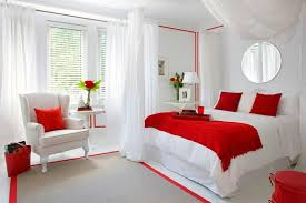 delightful red white bedrooms that you
