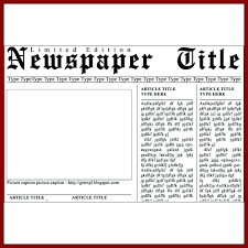 Newspaper Article Summary Template Blank Newspaper Template Front Page Article Format Generator
