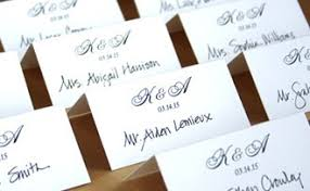 Wedding Reception Seating Arrangements And Placecards