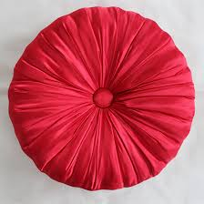 Red Round Decorative Pillows