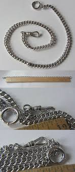 simmons watch chain. chains 10326: rarity new old stock 1 10 12k gold filled !! white ! simmons watch chain