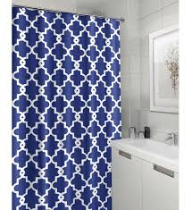 Geometric Patterned Curtains Popular Blue Fabric Shower Curtain Buy Cheap Blue Fabric Shower