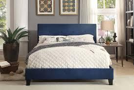 homelegance brice upholstered platform bed  blue bue