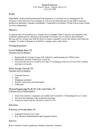 Template Sample Resumes For Customer Service Representative Resume