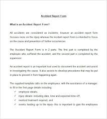 incident report example injury incident report sample new company driver