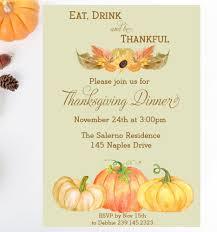 Thanksgiving Dinner Printable Invitation Fall Party Friendsgiving