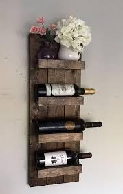 rustic wine rack e wall mounted bottle holder in wood design 5