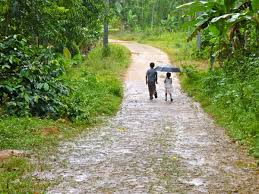 photo essay a rainy walk in munnar kids walking home munnar