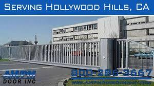 hollywood garage doorsHollywood Hills Electric Lock Driveway Security Garage Door Gate