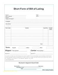 Bill Of Lading Free Form Master Bill Of Lading E Best Blank Ocean Form Straight Short