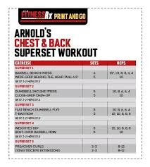opposing muscle group sut exle fitrx arnold chest and back workout chart