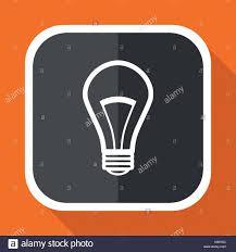 vector square blue icon lighting bulb. Bulb Vector Icon. Flat Design Square Internet Gray Button On Orange Background. - Stock Blue Icon Lighting
