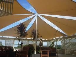 multiple shade sails for large outdoor area
