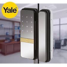 lever yale digital glass door lock rs