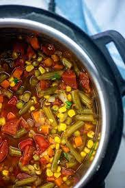 instant pot vegetable soup buns in
