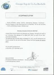 Acceptance Letter - La Rochelle Business School