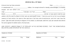 Personal Bill Of Sale For Car Personal Receipt Template