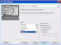 Прокат автомобилей База данных БД Курсовая работа Далее выбираем стиль оформления и набор кнопок рис 20