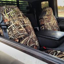ducks unlimited universal fit bucket seat cover neoprene shadow grass blades camo qty 1 spgdsc7002
