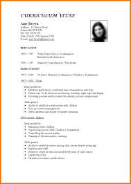 Standard Resume Template 10 Standard Resumes Word Templates 2016