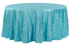 glitz sequins 120 round tablecloth turquoise