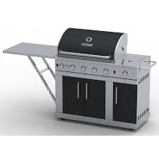 Kitchenaid 5 Burner Gas Grill Master Forge Outdoor Silver With Black And Decorating