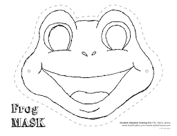 Frog Cut Out Template Frog Mask