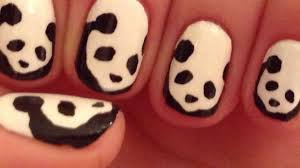 Panda Nail Art Tutorial (REQUEST) - YouTube