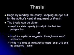 essay analysis unit ppt video online thesis begin by reading the essay keeping an eye out for the author s central argument