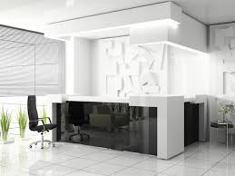 black color furniture office counter design. black backpainted glass reception desk adds light and a strong graphic element to office designreception areasreception desksreception color furniture counter design e
