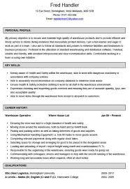 Warehouse Job Description Resume Musiccityspiritsandcocktail Com