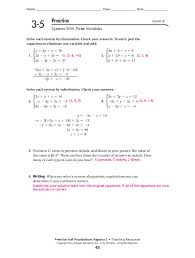 2 practice solving two step equations