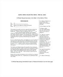 Fmla Cover Letter Cover Letter Official Format Leave Sample To