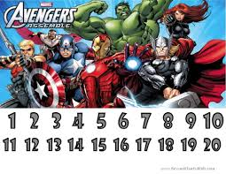 Marvel Avengers Charts Customizable Printable Free