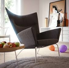 furniture chic grey laminated modern chair style for living room with round carpet and textured