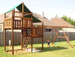 build a wooden swing set adventurer wooden swing sets fort kits to enlarge how to build a wooden swing set