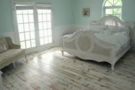 how to best painted wood floors with white headboard and french window for bedroom design ideas