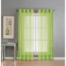 beautiful green grommet curtains for your window decoration lime green sheer double panel grommet curtains