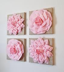 pink nursery wall decor