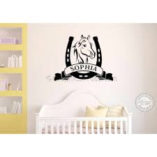 personalised horse wall stickers boy girls bedroom playroom wall decor decal on horse wall art decal with personalised horse wall stickers boy girls bedroom playroom wall