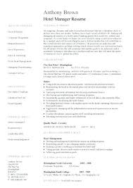 Sample Resume Format For Hotel Industry Resume Format For Hospitality Industry Examples Of Hospitality
