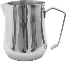 motta stainless steel milk pitcher  cl tulip  crema