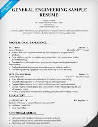 general engineer resume general engineering resume sample resumecompanion com resume