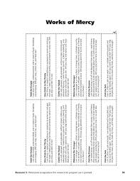 works of mercy worksheet corporal works of mercy worksheet onlinecashflow