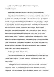 Personal Swot Analysis Essay Personal Swot Analysis Essay