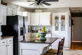 Removing Kitchen Cabinets How I Painted My Kitchen Cabinets Without Removing The Doors A