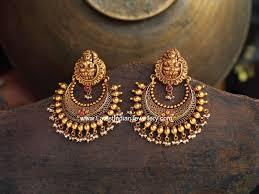 Chandbali Design Lakshmi Design Antique Gold Chand Bali Jewelry Design