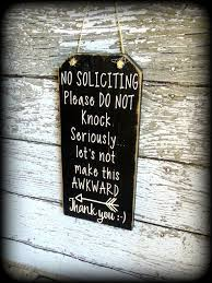 Funny Front Door Sign, No Soliciting Sign, Custom Wooden Sign ...