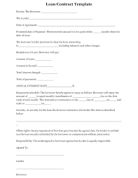 Unsecured Loan Agreement Template Free Contract Printable Or Sample ...